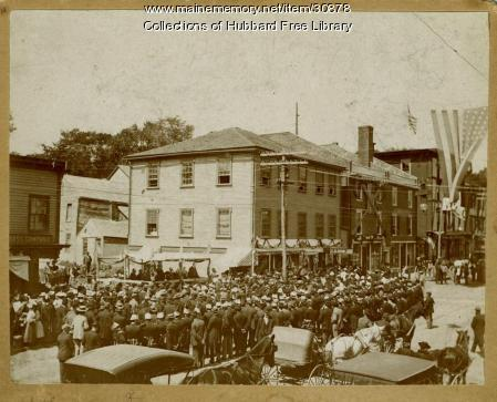 Holiday Gathering, Beemans Corner, Hallowell, ca. 1899