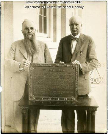 Hiram Ricker, Augustus Thomas, Minot, 1928