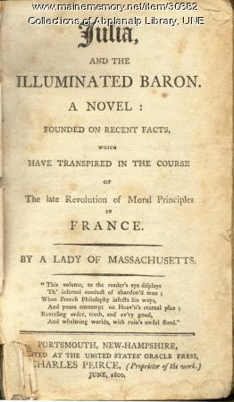 Julia, and the Illuminated Baron, Portsmouth, New Hampshire, 1800