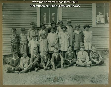 School children, Lubec, ca. 1934