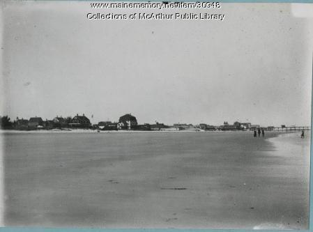 Beach near Pier, Old Orchard Beach, 1912