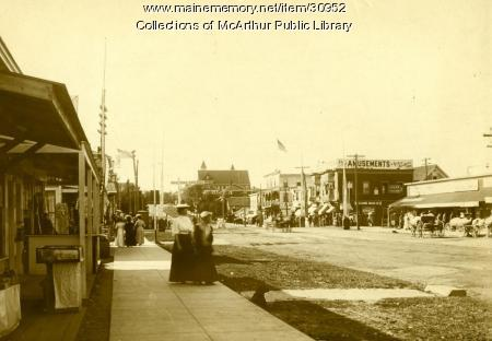 Old Orchard Street, Old Orchard Beach, circa 1910-1911