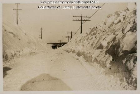 Blizzard, Lubec, January 1934