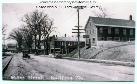Water Street looking west, Guilford, ca. 1930