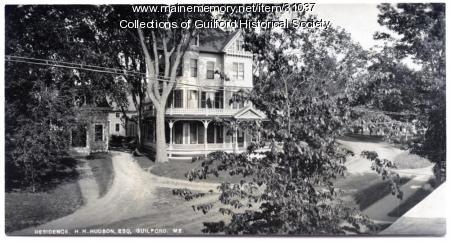 Henry Hudson home and office, Guildford, ca. 1900