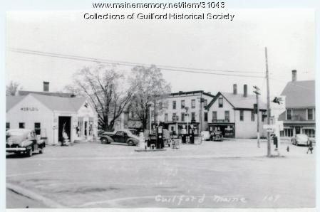 Bank Square, Guilford, ca. 1941