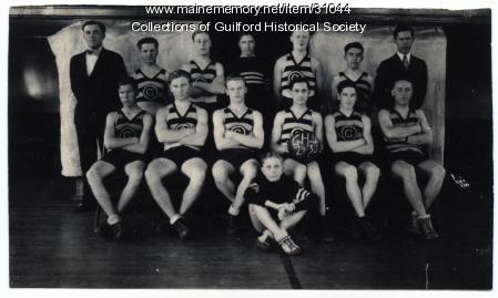 Guilford High School Basket Team, 1929