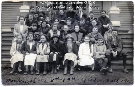 8th & 9th grade students, Guilford, Fall 1913