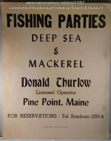 Fishing Party Poster, Scarborough, ca. 1945