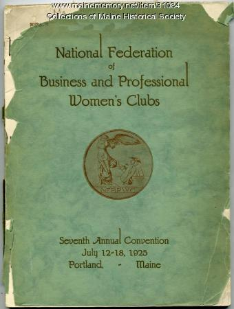 Business and Professional Women's Convention program, Portland, 1925
