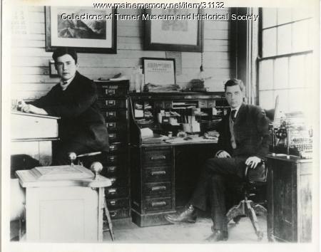 Auburn and Turner Railroad office, Turner, 1907