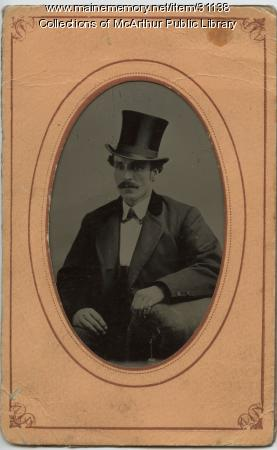 Portrait by photographer Benjamin Cole of Biddeford, ca. 1870