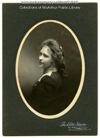Jennie Carroll graduation portrait, Biddeford, 1900