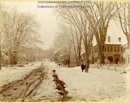 Winthrop Street, Hallowell in Winter, ca. 1895