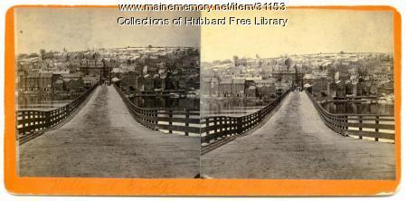 Hallowell-Chelsea Cribwork Bridge, Chelsea, ca. 1860