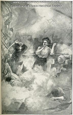 Hand-to-hand battle on 'Margaretta,' Machias, 1775