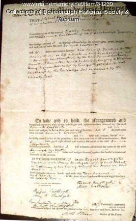 Deed from Robert Southgate to Samuel Coolbroth, May 5, 1822