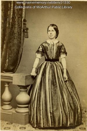 Lydia Swan McArthur, wife of Robert McArthur, 1861