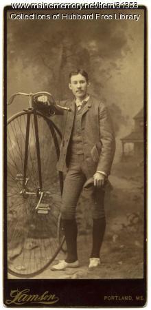 Alger V. Currier, artist, Hallowell, ca. 1890