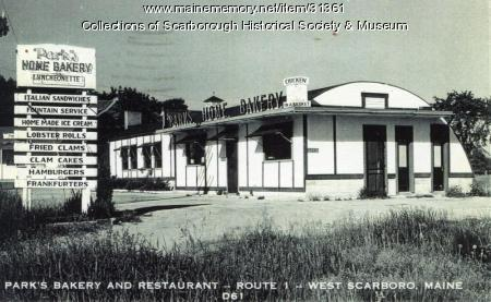 Park's Bakery and Restaurant, Scarborough, ca. 1950s