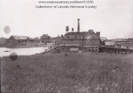 Pulp Mill, Penobscot River, 1902