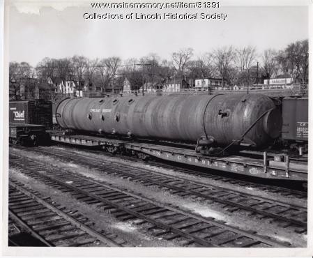 Digester for Lincoln Mill on Maine Central Railroad, Bangor, 1956