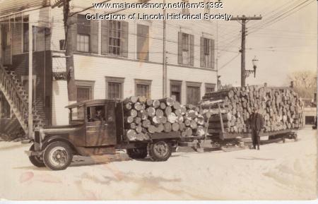 Logging truck, Lincoln, ca. 1930