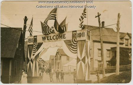 Centennial Welcome Archway, Lubec, 1911