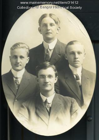 "Everett S. ""Shep"" Hurd and friends, Bangor, ca. 1917"