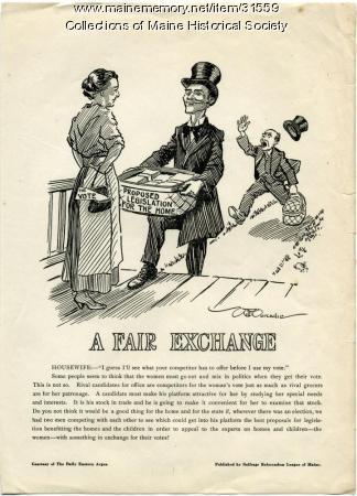 Woman voter poster, Portland, 1917
