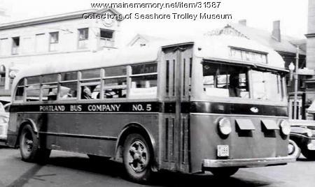 Portland Bus Company's No. 5, Portland, ca. 1949