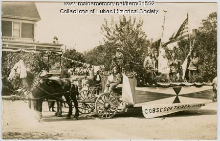 Cobscook Tribe No. 80 float, Lubec, 1911