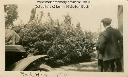 Red Men float, Lubec, 1911
