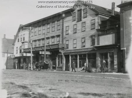 Main Street businesses, Saco, 1911