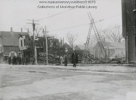 Main Street, Saco, after the fire of December 9, 1912