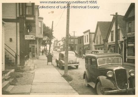 Water Street, Lubec, ca. 1940