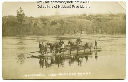 Hallowell-Chelsea Ferry, Kennebec River, ca. 1917