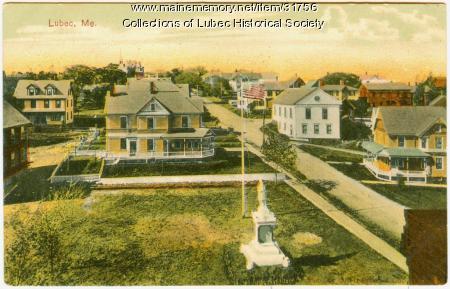 Main Street birdseye view, Lubec, ca. 1905