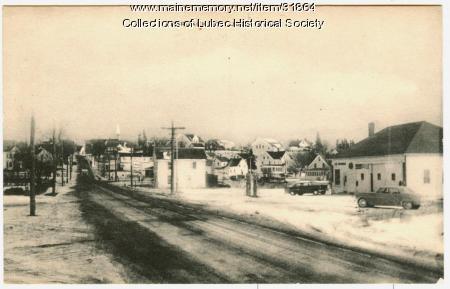 Main Street, Lubec, ca. 1950
