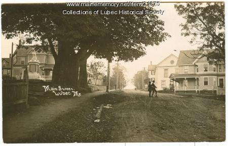 Main Street from Pleasant Street, Lubec, ca. 1905