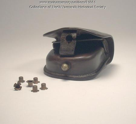 Civil War Cap Case and Caps owned by Luther Lawrence, ca. 1862
