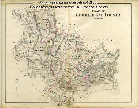 Map of Cumberland County, 1880