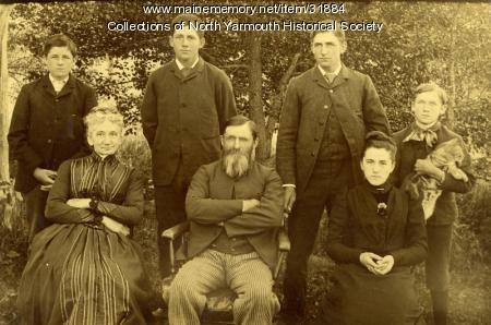The James and Ellen Lawrence family, ca. 1890