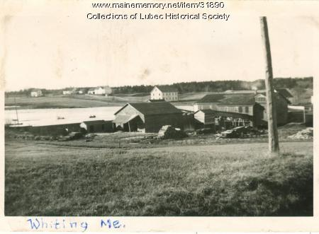 Route 1 view, Whiting, ca. 1940