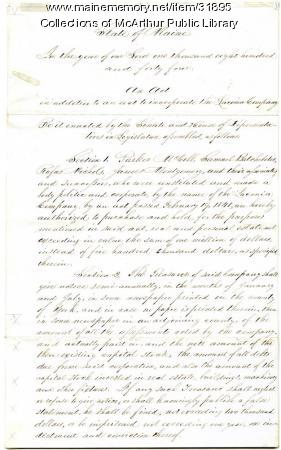 Expansion of the Laconia Company, Biddeford, 1844