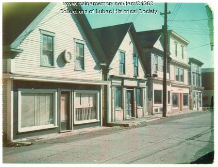 Late 20th century on Water Street, Lubec, 1965-75