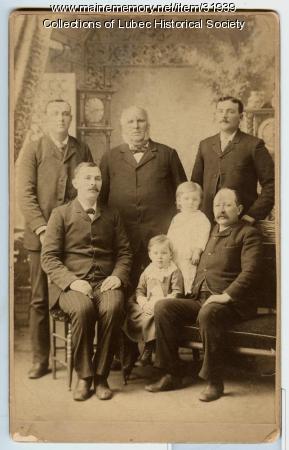 Pike family, Lubec, ca. 1892