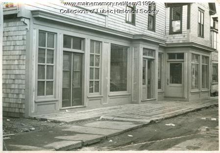 Shops on Water Street, Lubec, ca. 1950