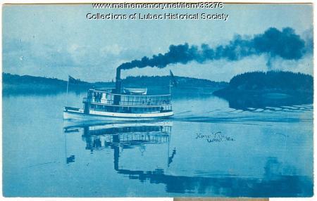 Steam ferry, Lubec, ca. 1899