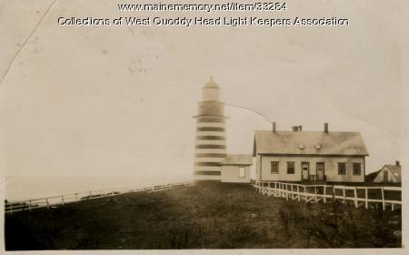West Quoddy Head Lighthouse, Lubec, ca. 1920